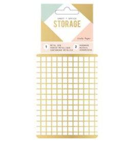 Crate Paper Wire System Metallkörbchen