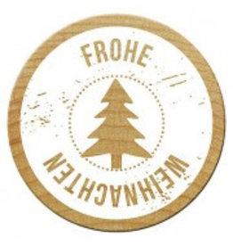 Woodies Holzstempel  Frohe Weihnachten
