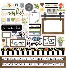 Carta Bella welcome HOME 12x12 Element Stickers