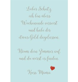 Postkarte  Lieber Schatz...