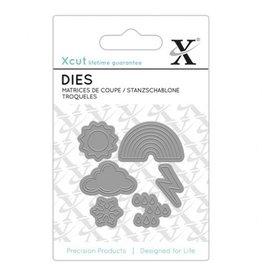Xcut Stanzschablonen Set Weather Icons