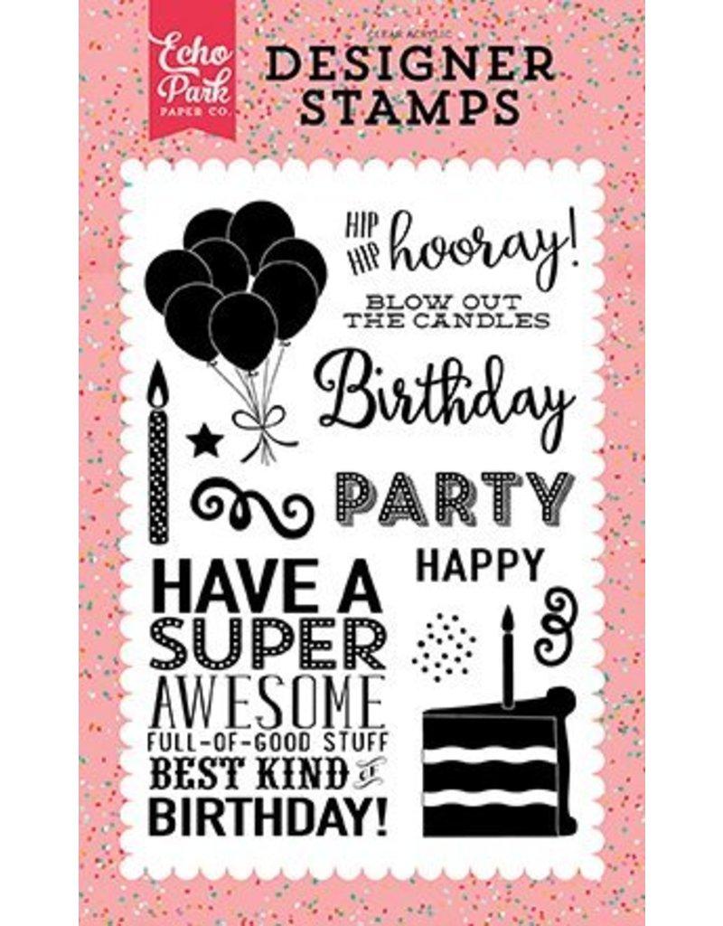Echo Park Clear Stamp Set Hip Hip Hooray