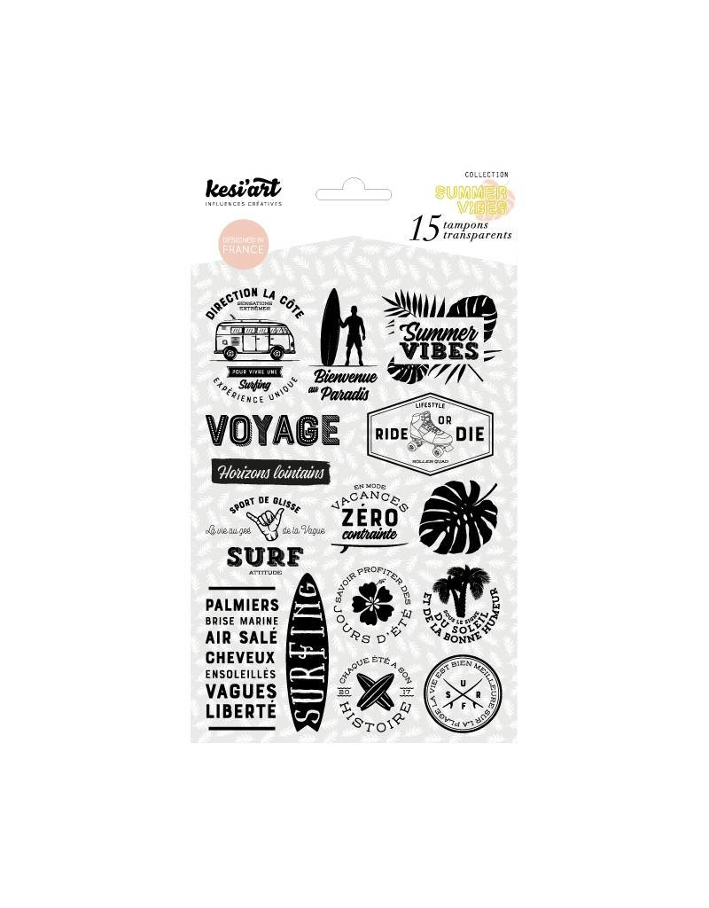 kesi`art Clear Stamps Set summer vibes