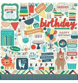 Echo Park Happy Birthday Boy 12x12 Stickers