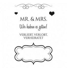 Clear Stamp Set  Verliebt - Verlobt - Verheiratet