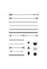 Clear Stamp Set  Pfeile + Linien