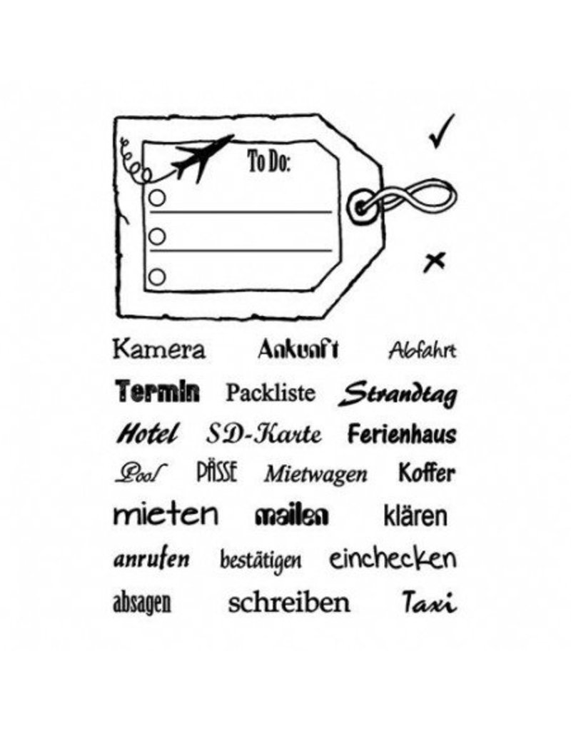 Clear Stamp Set  Reiseplanung