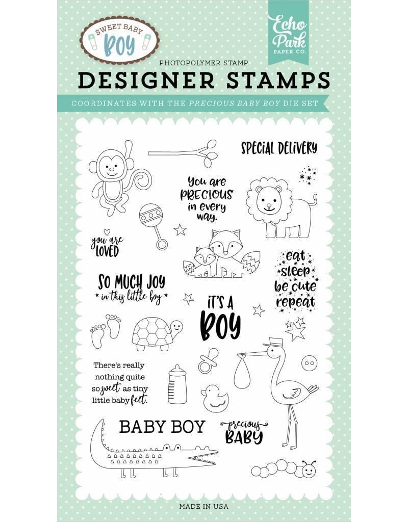Echo Park Sweet Baby Boy Clear Stamp Set