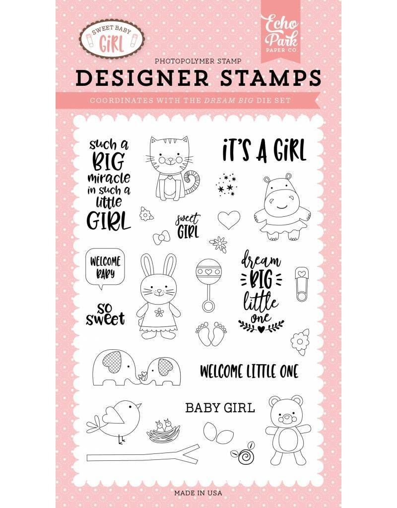 Echo Park Sweet Baby Girl Clear Stamp Set