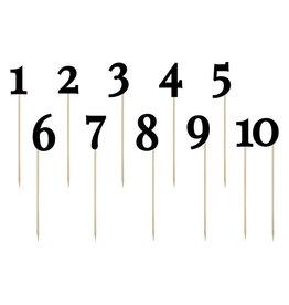 Tischnummern Set Schwarz