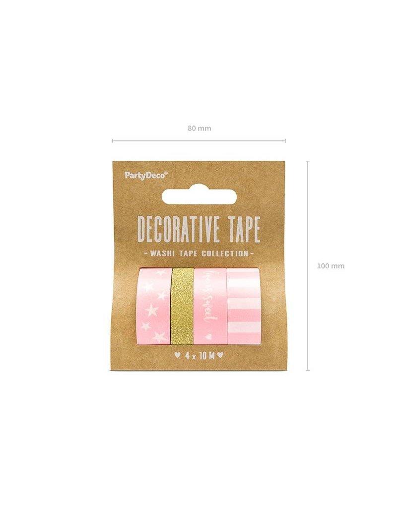 Washi Tape Set  Rosa Gold