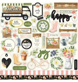 Carta Bella Spring Market  Sticker Sheet 12x12 Inch