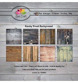 Dixi Craft Paper Pad  6x6 Inch 24 Blatt Rustiq Wood