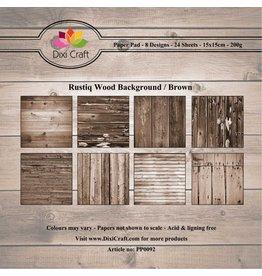 Dixi Craft Paper Pad  6x6 Inch 24 Blatt Rustiq Wood Brown