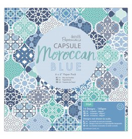 Papermania Moroccan Blue Paper Pad 6 x 6 Inch