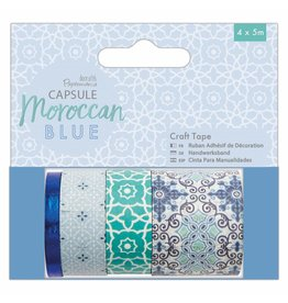Papermania Washi Tape Set Moroccan Blue
