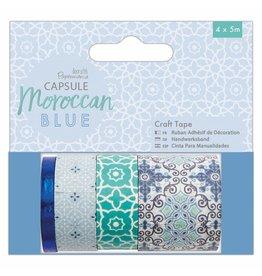 Papermania Washi Tape Set Moroccan Blue