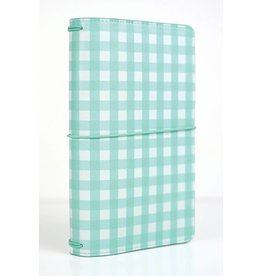 Echo Park Echo Park - Travelers Notebook - Teal Gingham