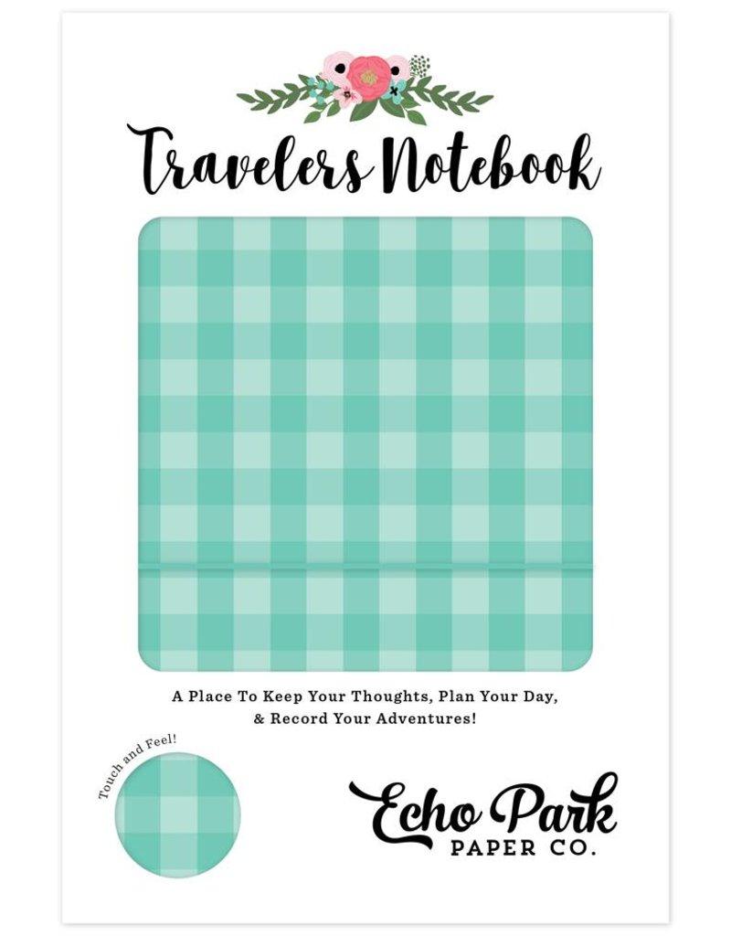 Echo Park Echo Park - Travelers Notebook - Teal Gingham