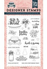Echo Park Just Married Clear Stamp Set