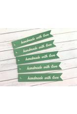 5x Geschenkanhänger handmade with love