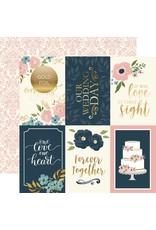 Echo Park Cardstockbogen Just Married 4x6 Journaling Cards
