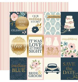 Echo Park Cardstockbogen Just Married 3x4 Journaling Cards