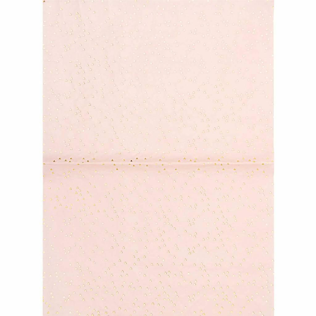 1 Bogen Papier Dreiecke Goldfoil 30x42cm