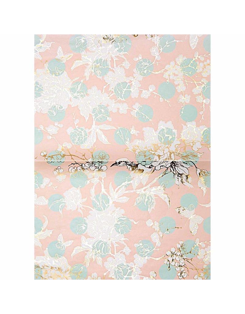 1 Bogen  Papier Toile Schmetteringe 30x42cm