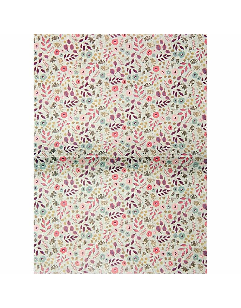 1 Bogen Paper Patch Papier Bouquet Sauvage 30x42cm