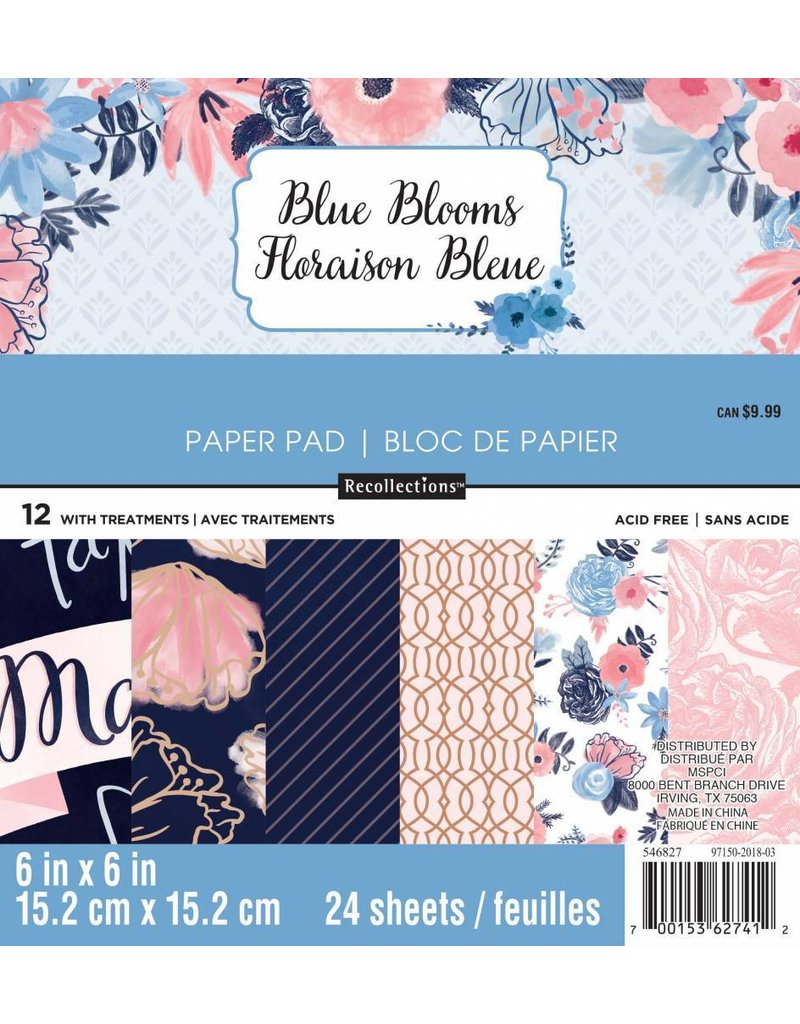 Craft Smith Craft Smith Blue Blooms Paper Pad 6x6