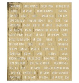 Word Label Stickers Goldfoil