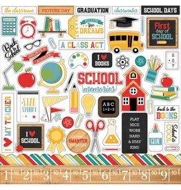 Echo Park Back to School 12x12 Inch Element Sticker