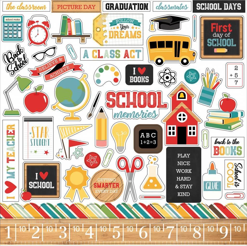 Echo Park Back to School 12x12 Inch Element Sticker
