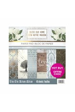 Craft Smith Craft Smith  Bless Our Home Paper Pad 12x12