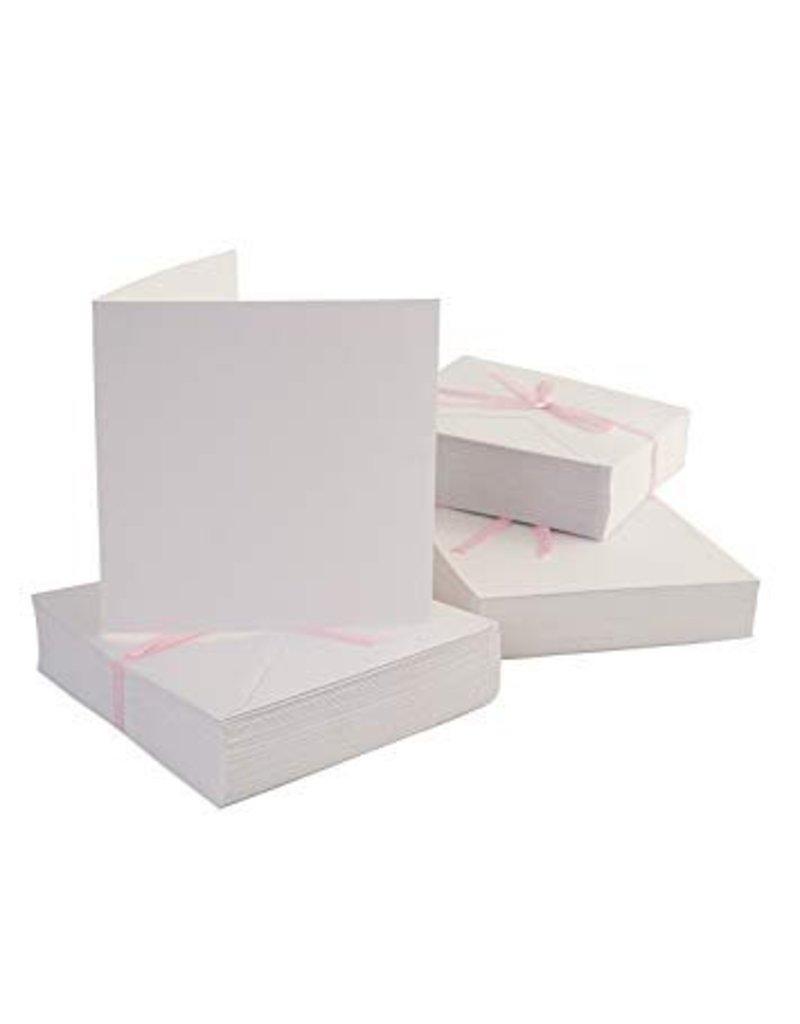 50x weiße Klappkarten + Umschläge  14x14cm  - Copy