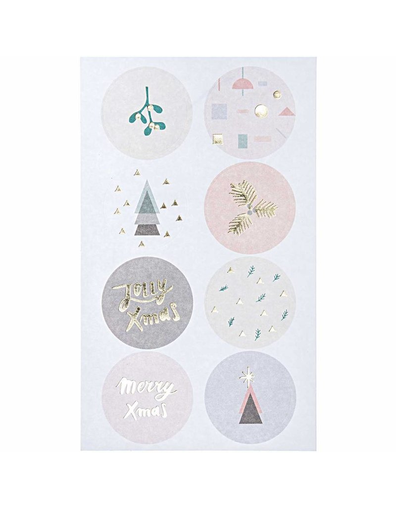 Paper Poetry 80x Paper Poetry Sticker Jolly Christmas Pastell