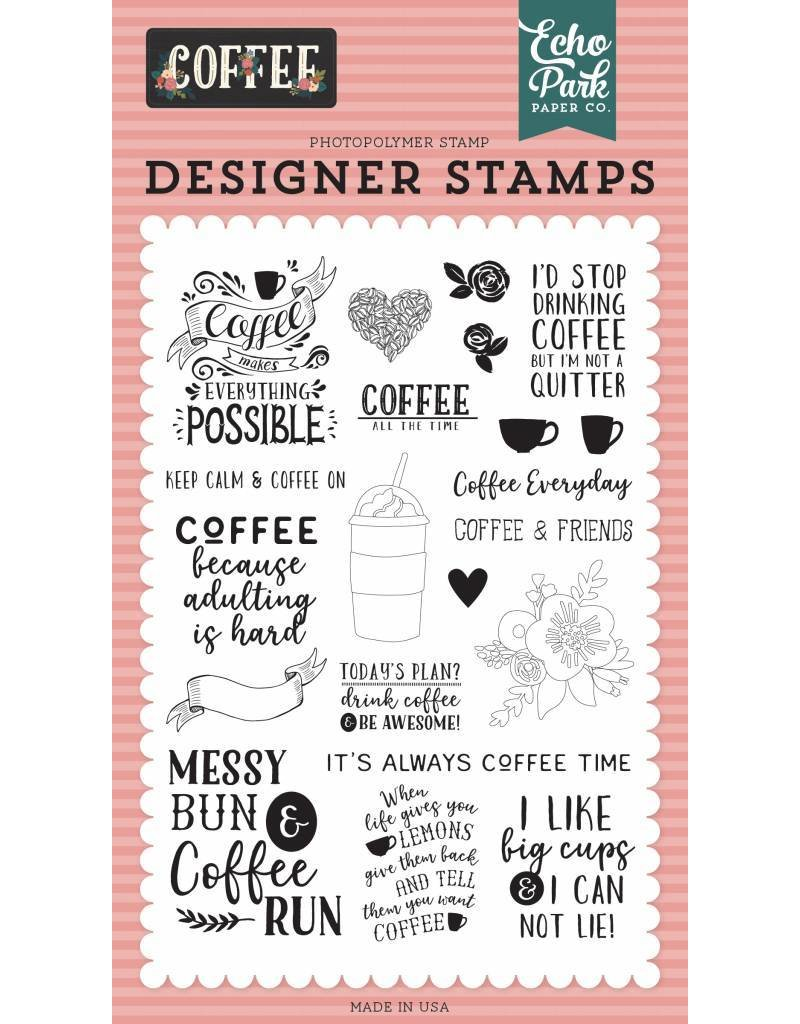Echo Park Coffee Time Clear Stamps