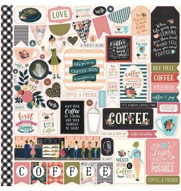 Echo Park Coffee Time 12x12 Inch Element Sticker