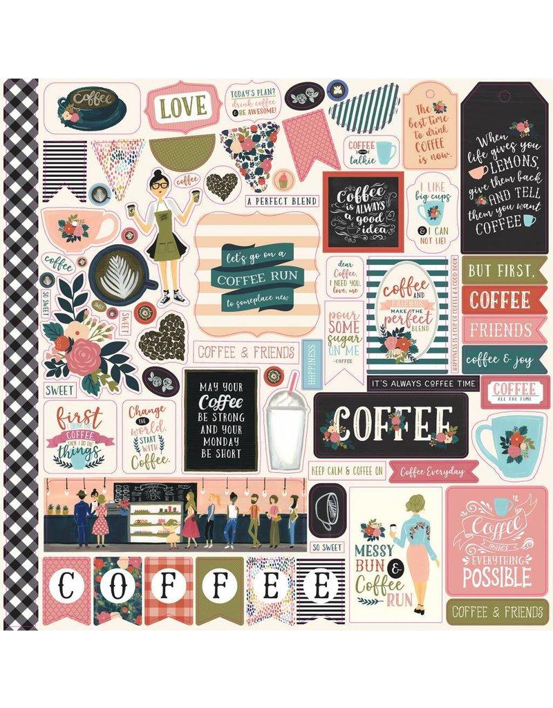 Echo Park  Coffee Time 12x12 Inch Element Sticker