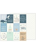Pebbles Night Night Baby Boy Cardstock Bogen