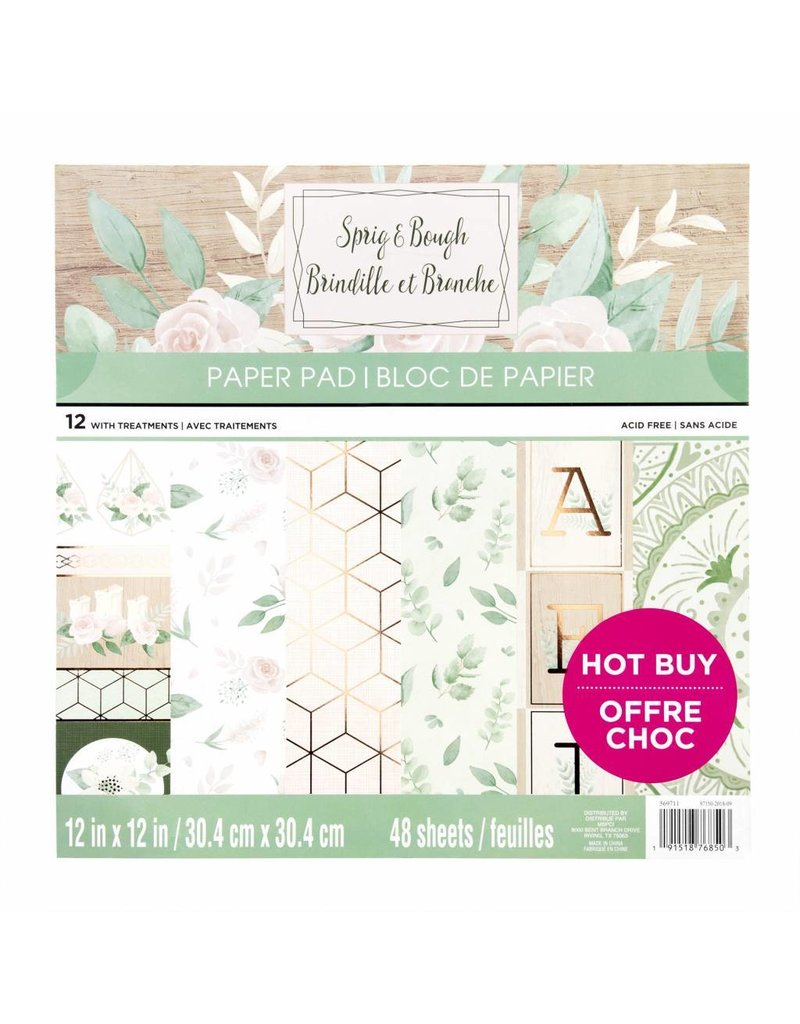 Craft Smith Craft Smith  Sprig & Bough Paper Pad 12x12