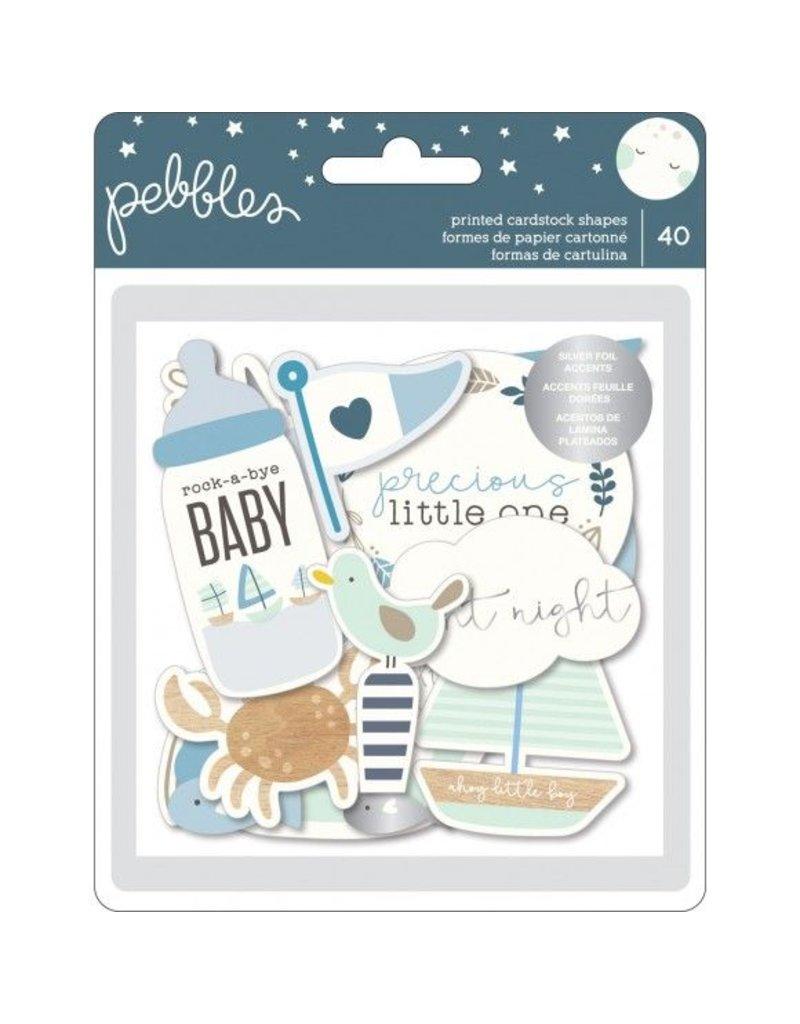 Pebbles Night Night Baby Boy Ephemera 40Stk.