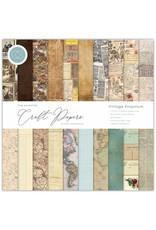Craft Consortium Craft Consortium Essential Craft Papers 12x12 Inch Paper Pad Vintage Emporium