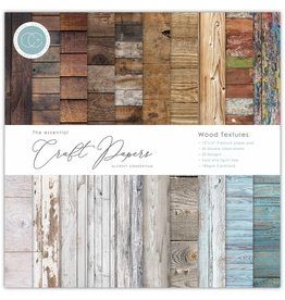 Craft Consortium Craft Consortium Essential Craft Papers 12x12 Inch Paper Pad Wood Textures