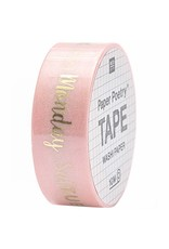 Paper Poetry Washitape Wochentage Rosa