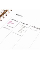 Paper Poetry Planner clear stamps  Kalender Handschrift