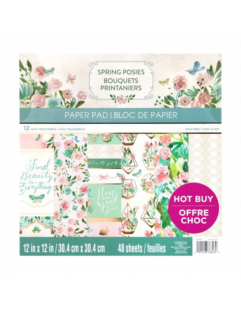 Craft Smith Craft Smith Spring Posies Paper Pad 12x12     -
