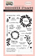 Echo Park Let Love Bloom Clear Stamps