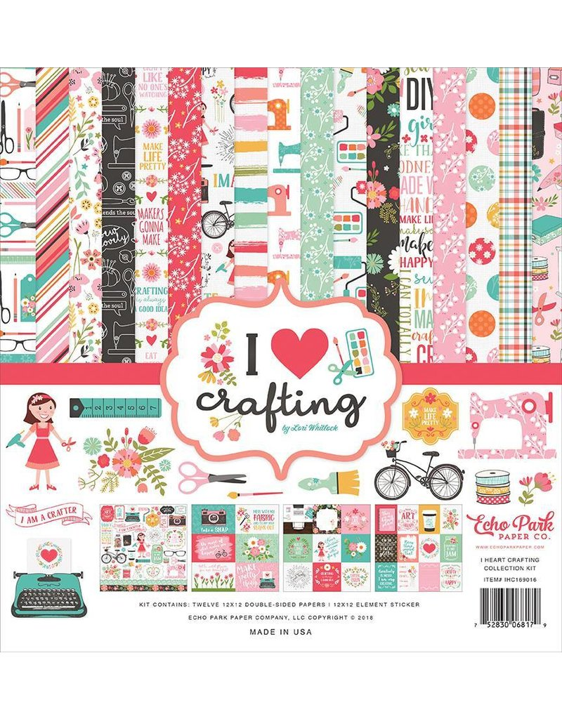 Echo Park I love crafting12x12 Collection Kit